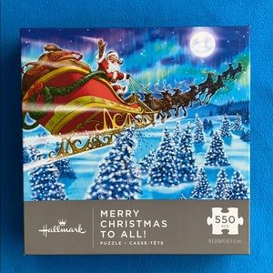 """Hallmark Puzzle 550 Pc""""Merry Christmas""""to All! NWT"""